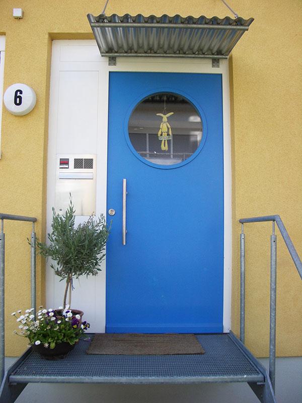 Eingang Reihenhausanlage