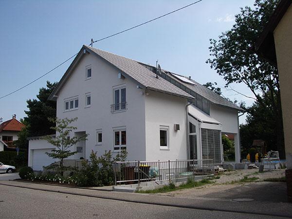 Neubau eines EFH mit Wintergarten in Baden-Baden