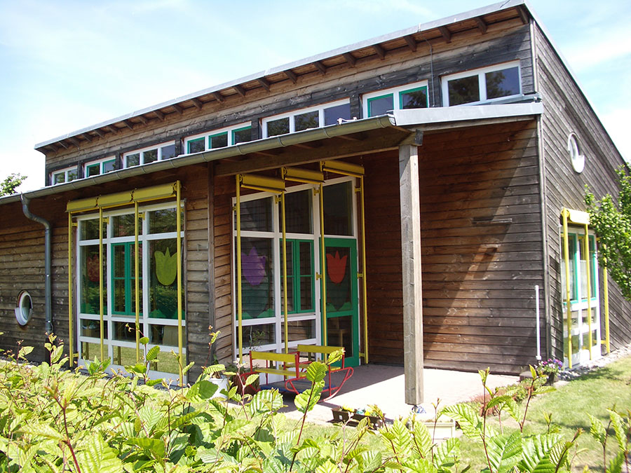 Neubau Kindergarten Louise Scheppler in Baden-Baden-Holzfassade